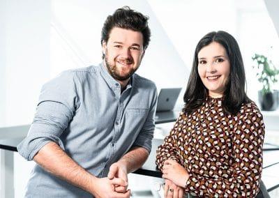 Felix Wiesel und Ina Medick Gründer von IF.DIGITAL